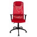 Кресло руководителя Бюрократ KB-8/R/TW-97N красный TW-35N TW-97N сетка