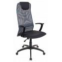 Кресло руководителя Бюрократ KB-8/DG/TW-12 серый TW-04 TW-12 сетка