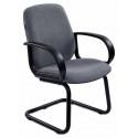 Кресло Бюрократ CH-808-LOW-V/GREY низкая спинка серый 10-128