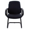 Кресло Бюрократ CH-808-LOW-V/BLACK низкая спинка черный 80-11