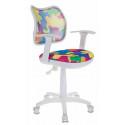 Кресло детское Бюрократ CH-W797/ABSTRACT спинка сетка мультиколор абстракция