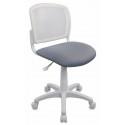 Кресло детское Бюрократ CH-W296NX/15-48 спинка сетка белый TW-15 сиденье серый 15-48