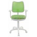 Кресло детское Бюрократ CH-W797/SD/CACTUS-GN спинка сетка салатовый сиденье зеленый кактусы Cactus-Gn (пластик белый)