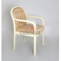 Кресло Миледи-1 (Слоновая кость/Матовый/Андрис 160-беж (Соты))