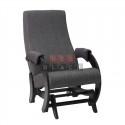 Кресло- гляйдер Модель 68-М (Венге/Falcone Light Grey ) серый