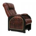 Кресло гляйдер Мод.48 (Antik крокодил/Венге) Темно-коричневый