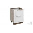 Шкаф напольный с 2-мя ящиками Н2я_72-60_2Я (Бежевый)