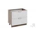 Шкаф напольный с 2-мя ящиками Н2я(Т)_72-90_2Я (Бежевый)