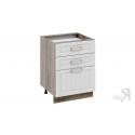 Шкаф напольный с 3-мя ящиками Н3я(Т)_72-60_3Я (Бежевый)