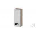 Шкаф навесной c декором (правый) В_96-40_1ДРД(R) (Бежевый) 96 см