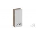 Шкаф навесной c декором (левый) В_96-45_1ДРД(L) (Бежевый) 96 см