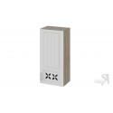 Шкаф навесной c декором (правый) В_96-45_1ДРД(R) (Бежевый) 96 см