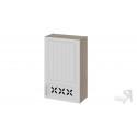 Шкаф навесной c декором (правый) В_96-60_1ДРД(R) (Бежевый) 96 см