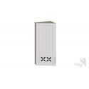 Шкаф навесной торцевой c декором ВТ_96-40(45)_1ДРД(L) (Бежевый) 96 см