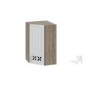 Шкаф навесной угловой c углом 45 с декором ВУ45_96-(40)_1ДРД(R) (Бежевый) 96 см