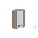 Шкаф навесной угловой c углом 45 с декором ВУ45_96-(40)_1ДРД(L) (Бежевый) 96 см
