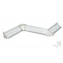 Плинтус кухонный пристенный ДО-007 (Белый)