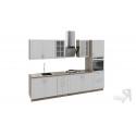 Кухонный гарнитур длиной - 240 см (с пеналом ПБ) ГН72_300_3 (ПБ)