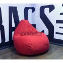 Кресло мешок Аполена (Красный замша II)