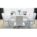 Стол обеденный тип 1 «Diamond» (Белый глянец)