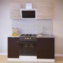 Прямой кухонный гарнитур ПН-04+ТК-04.1+ПН-06+ТК-06м