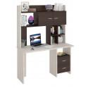 Компьютерный стол Домино Lite СКЛ-Прям130+НКЛХ-130 (левый)
