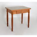 Стол обеденный ЛС-831 с ящиком (Оникс/Латакия 6280/ ноги Орех точеные)
