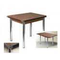 Стол обеденный ЛС-831 (столешница Кожа шоколад 8513/ ноги Хром)