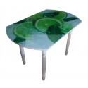 Стол обеденный 833-С (Лайм (ЧС-01) / ноги Белый) фото печать