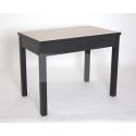 Стол 834-М11 прямоугольный (Ясень шимо/ ноги Черные прямые)