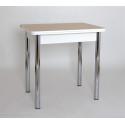 Стол обеденный ЛС-831 (ЛДСП/Дуб беленый/ ноги Хром)