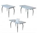 Стол НАДИА mini 3D (белые цветы)