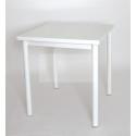 Стол на металлокаркасе СМЛ-1 (металл-белый + столешница Белая радика ЛДСП)