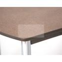 Стол обеденный ЕР-833 (1642 Песок/ ноги Хром/кромка+царги-венге)