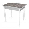 Стол обеденный ЛС-831 (пластик 2047/ ноги Хром/кромка+подстолье серый