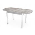 Стол обеденный ЕР-833 (пластик №2046/ ноги Хром/кромка+царги-серый)