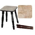 Табурет на деревянных ногах (Оникс/Латакия 6280/ноги Орех)