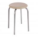 Табурет металлический LeSet 1004 (слоновая кость/серебро) сиденье круглое