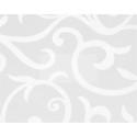 Табурет на хромированных ногах (Белые цветы 2553)