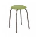 Табурет металлический LeSet 1004 (фисташковый/серебро) сиденье круглое