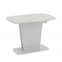 Стол раздвижной «Честер» Тип 1 (Белый/Стекло белый глянец (оптивайт))