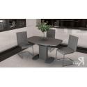 Стол обеденный «Портофино» СМ(ТД)-105.01.11(1) (Серый/Стекло серое матовое LUX)