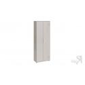 Шкаф комбинированный «Витра» тип 1 (Ясень шимо/Бежевый фон глянец с рисунком)