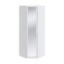 Шкаф угловой с 1-ой дверью с зеркалом «Ривьера» СМ 241.23.003 (Белый)