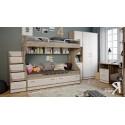 Набор мебели для детской комнаты «Брауни» №2 (Фон бежевый с рисунком/Дуб Сонома трюфель)