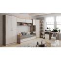 Набор мебели для детской комнаты «Брауни» №3 (Фон бежевый с рисунком/Дуб Сонома трюфель)