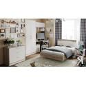 Набор мебели для детской комнаты «Брауни» №1 (Фон бежевый с рисунком/Дуб Сонома трюфель)