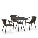 Комплект плетеной мебели из искусственного ротанга T282BNT/Y137C-W53 Brown 3Pcs