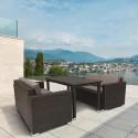Обеденный комплект плетеной мебели из искусственного ротанга T256A/S52A-W53 Brown