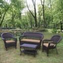 Комплект плетеной мебели из искусственного ротанга LV130 Brown/Beige